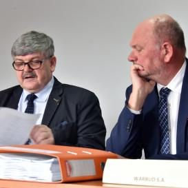 Janusz Budny (Wójt Gminy Wiązowna) oraz Jerzy Werle (Prezes Warbud S.A)