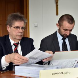 Marek Tobiacelli oraz Robert Makuch (obaj Siemens sp. z o.o.)